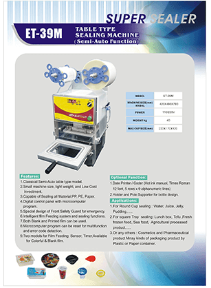 ET-39M Table Type Sealing Machine